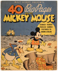 Platinum Age (1897-1937):Miscellaneous, 40 Big Pages of Mickey Mouse #945 (Whitman, 1936) Condition: VG+....