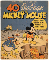 40 Big Pages of Mickey Mouse #945 (Whitman, 1936) Condition: VG+