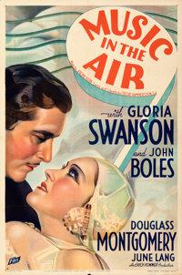 """Music in the Air (Fox, 1934). Folded, Very Fine. One Sheet (27"""" X 41"""") Style A. From the Mike Kaplan Collectio..."""
