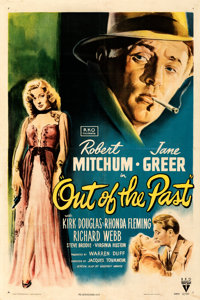 """Out of the Past (RKO, 1947). Fine/Very Fine on Linen. One Sheet (27.25"""" X 41""""). William Rose Artwork. From the..."""