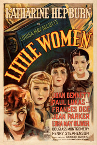"Little Women (RKO, 1933). Fine+ on Linen. One Sheet (27"" X 41""). From the Mike Kaplan Collection"