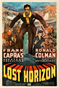 "Movie Posters:Fantasy, Lost Horizon (Columbia, 1937). Fine/Very Fine on Linen. One Sheet (27.25"" X 41"") Style C, James Montgomery Flagg Artwork. ..."