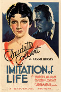 Movie Posters:Drama, Imitation of Life (Universal, 1934). Fine+ on Linen.