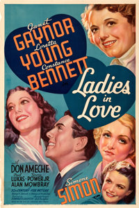 """Ladies in Love (20th Century Fox, 1936). Fine/Very Fine on Linen. One Sheet (27"""" X 41"""") Style B. From the Mike..."""