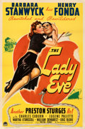 "Movie Posters:Comedy, The Lady Eve (Paramount, 1941). Fine/Very Fine on Linen. One Sheet (27"" X 41""). From the Mike Kaplan Collection.. ..."