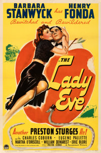 "The Lady Eve (Paramount, 1941). Fine/Very Fine on Linen. One Sheet (27"" X 41""). From the Mike Kaplan Collectio..."