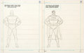 Original Comic Art:Covers, Curt Swan How To Draw Super Heroes Superman Original Art and Book (Western Publishing, 1983).. ...