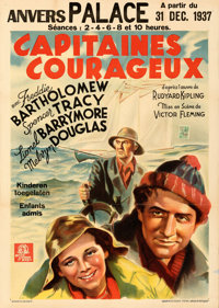 "Captains Courageous (MGM, 1937). Folded, Very Fine-. Pre-War Belgian (24"" X 33.5""). From the Mike Kaplan Colle..."