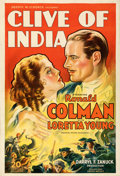 """Movie Posters:Adventure, Clive of India (Warner Bros., 1935). Fine+ on Linen. One Sheet (27"""" X 40""""). Glenn Cravath Artwork. From the Mike Kaplan Co..."""