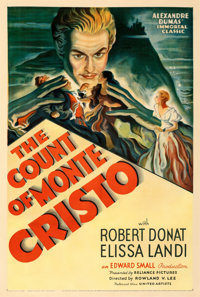 "The Count of Monte Cristo (United Artists, 1934). Fine+ on Linen. One Sheet (27.25"" X 40.75""). From the Mike K..."