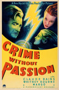 Movie Posters:Crime, Crime Without Passion (Paramount, 1934). Folded, Very Fine...