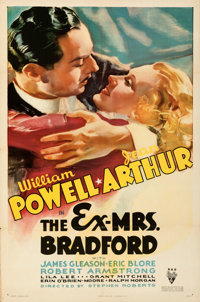 """The Ex-Mrs. Bradford (RKO, 1936). Folded, Very Fine-. One Sheet (27"""" X 41""""). From the Mike Kaplan Collection..."""