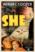 """Movie Posters:Fantasy, She (RKO, 1935). Fine/Very Fine on Linen. One Sheet (27"""" X 41""""). From the Mike Kaplan Collection.. ..."""