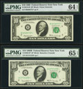 Fr. 2018-B* $10 1969 Federal Reserve Star Note. PMG Choice Uncirculated 64 EPQ; Fr. 2020-B* $10 1969B Federal Reserve St...