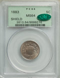 1883 5C MS64 PCGS. CAC. PCGS Population: (563/396). NGC Census: (464/370). MS64. Mintage 1,456,919. From The Triplets...