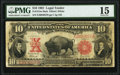 Large Size:Legal Tender Notes, Fr. 121 $10 1901 Mule Legal Tender PMG Choice Fine 15.. ...