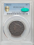 1823/2 1C VG10 PCGS. CAC. PCGS Population: (32/112 and 0/0+). NGC Census: (0/0 and 0/0+). CDN: $295 Whsle. Bid for NGC/P...