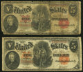 Fr. 83 $5 1907 Legal Tender Good; Fr. 87 $5 1907 Legal Tender Very Good