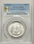 1948-S 50C Booker T. Washington MS66 PCGS. PCGS Population: (440/40 and 44/6+). NGC Census: (316/69 and 9/2+). CDN: $65...