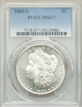 Morgan Dollars: , 1880-S $1 MS67+ PCGS. PCGS Population: (2514/257 and 369/33+). NGC Census: (3269/301 and 126/7+). CDN: $485 Whsle. Bid for ...