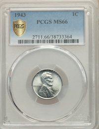 1943 1C MS66 PCGS. PCGS Population: (6243/1839 and 34/88+). NGC Census: (8548/3889 and 4/52+). CDN: $30 Whsle. Bid for N...