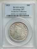 Bust Half Dollars, 1822 50C O-107, R.2, AU53 PCGS. Ex: Frederick Collection. PCGS Population: (1/7). NGC Census: (2/6). AU53. Mintage 1,559,57...