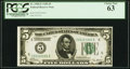 Small Size:Federal Reserve Notes, Fr. 1950-E $5 1928 Federal Reserve Note. PCGS Choice New 63.. ...