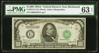 Fr. 2212-E $1,000 1934A Federal Reserve Note. PMG Choice Uncirculated 63 EPQ