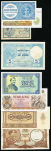World Currency, A Primarily European Contingent with Examples from Belgium and Czechoslovakia. Fine or Better.. ... (Total: 23 notes)