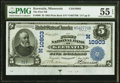 National Bank Notes:Minnesota, Keewatin, MN - $5 1902 Plain Back Fr. 606 The First National Bank Ch. # (M)10903 PMG About Uncirculated...