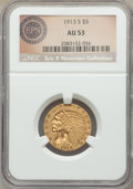1913-S $5 AU53 NGC. Ex: Eric P. Newman Collection. NGC Census: (174/1543). PCGS Population: (108/806). CDN: $430 Whsle...