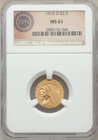1914-D $2 1/2 MS61 NGC. Ex: Eric P. Newman Collection. NGC Census: (2333/6154). PCGS Population: (723/4260). CDN: $375 W...