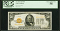 Small Size:Gold Certificates, Fr. 2404 $50 1928 Gold Certificate. PCGS Choice About New ...