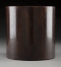Carvings, A Chinese Zitan Bitong, 20th century. 5-3/4 x 5-3/4 inches (14.6 x 14.6 cm). ...