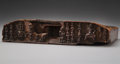Carvings, A Tibetan Carved and Polychromed Wood Sutra Cover, 12th century . 2 x 9 x 5-3/4 inches (5.1 x 22.9 x 14.6 cm). ...