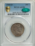 Barber Quarters, 1905-O 25C AU58 PCGS. CAC. PCGS Population: (23/69 and 0/6+). NGC Census: (11/44 and 0/0+). CDN: $400 Whsle. Bid for NGC/PC...