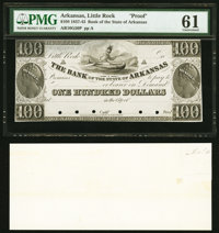 Little Rock, AR- Bank of the State of Arkansas (Branch Issue) $100 18__ G50 Rothert 400-4 Proof PMG Uncirculated 61