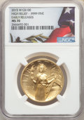 Modern Bullion Coins, 2015-W $100 High Relief One-Ounce Gold, First Strike, MS70 NGC. NGC Census: (5895). PCGS Population: (2132). ...