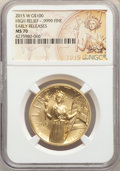 2015-W $100 High Relief One-Ounce Gold, Early Releases, MS70 NGC. NGC Census: (5895). PCGS Population: (2132)....(PCGS#...