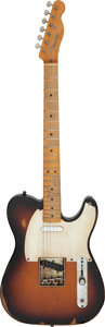 Musical Instruments:Electric Guitars, Rick Springfield's 2008 Stage Played Fender Telecaster Sunburst Solid Body Electric Guitar, Serial # MZ8268308....