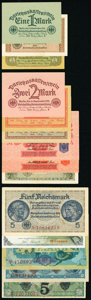 World Currency, A Variety of Issues from Germany Including Notgeld. Very Good or Better.. ... (Total: 44 notes)