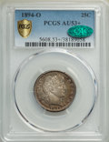 Barber Quarters, 1894-O 25C AU53+ PCGS. CAC. PCGS Population: (5/131 and 1/4+). NGC Census: (0/129 and 0/0+). CDN: $185 Whsle. Bid for NGC/P...