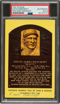 Baseball Collectibles:Others, 1971-72 Dave Bancroft Signed Hall of Fame Postcard, PSA/DN...