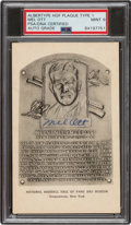 Baseball Collectibles:Others, 1946-52 Mel Ott Signed Albertype Hall of Fame Plaque Postc...