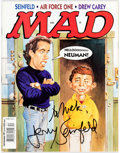 Memorabilia:Comic-Related, Jerry Seinfeld MAD #364 Autographed/Inscribed Magazine (EC Publ., 1997)....