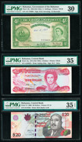 World Currency, Bahamas Bahamas Government; Central Bank (2) 4 Shillings; 3; 20 Dollars 1936 (ND 1954); 1974 (ND 1984); 2006 Pick 13b; 44a; ... (Total: 3 items)