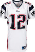 Football Collectibles:Uniforms, 2001 Tom Brady Pro Cut New England Patriots Jersey, MEARS A5. ...