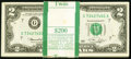 Fr. 1935-G $2 1976 Federal Reserve Notes. Original pack of 100. Choice Crisp Uncirculated. ... (Total: 100 notes)