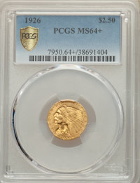 1926 $2 1/2 MS64+ PCGS. PCGS Population: (3023/877 and 196/50+). NGC Census: (3513/635 and 93/10+). MS64. Mintage 446,00...