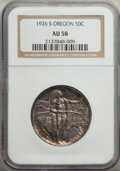 1926-S 50C Oregon AU58 NGC. NGC Census: (49/3015). PCGS Population: (87/4283). CDN: $125 Whsle. Bid for NGC/PCGS AU58. M...